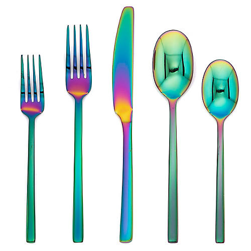20-Pc Sevigny Flatware Set, Rainbow