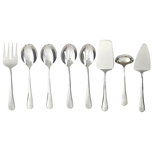 Asst. of 8 Marling Flatware Set, Silver