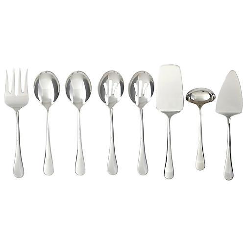 Asst. of 8 Marling Flatware Set, Silver