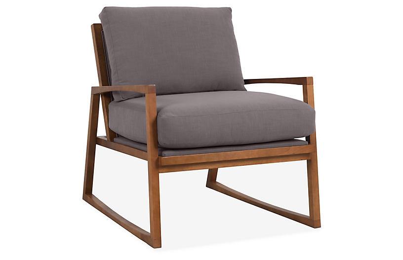 Markus Accent Chair, Charcoal Crypton