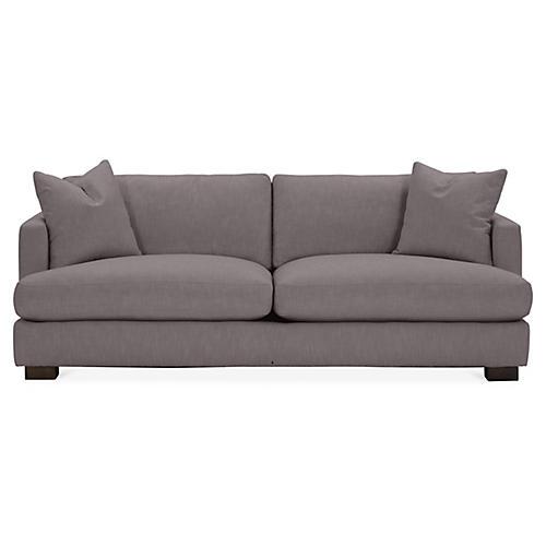 Hudson Sofa, Charcoal Crypton