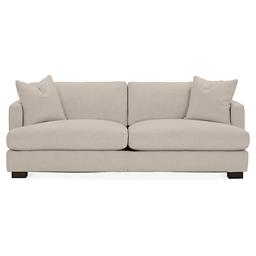 Hudson Sofa, Greige Crypton