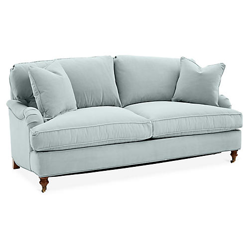 Brooke Sleeper Sofa, Seafoam Crypton