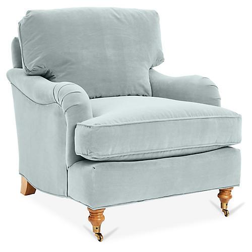 Brooke Club Chair, Seafoam Crypton