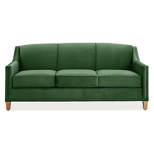 Erin Sleeper Sofa, Emerald Velvet
