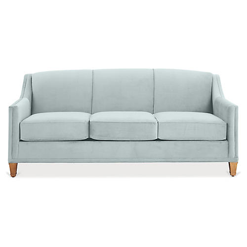 Erin Sleeper Sofa, Seafoam Crypton
