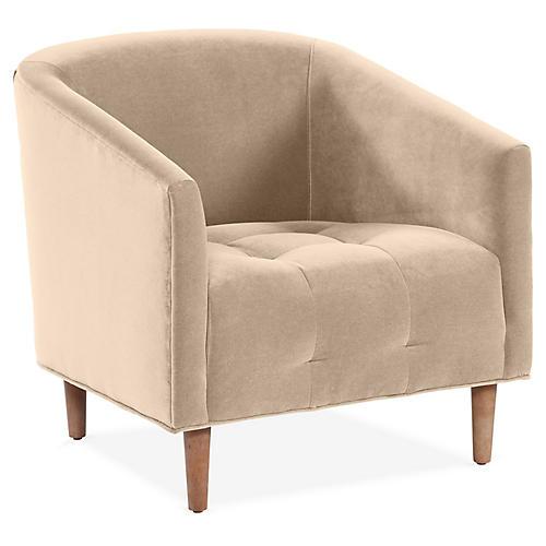 Astrid Barrel Chair, Bisque Crypton