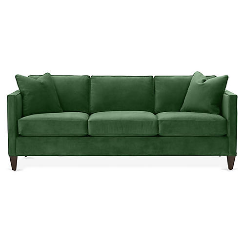 Cecilia Sofa, Emerald Velvet