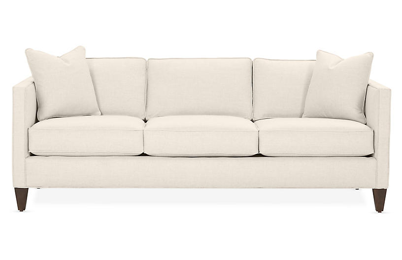 Cecilia Sleeper Sofa, Ivory Crypton