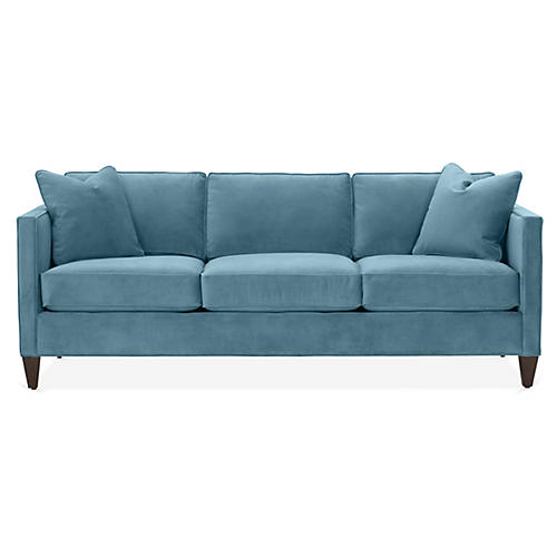 Cecilia Sleeper Sofa, Colonial Blue Crypton