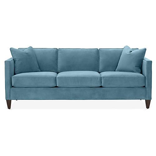 Cecilia Sleeper Sofa, Colonial Blue Crypton