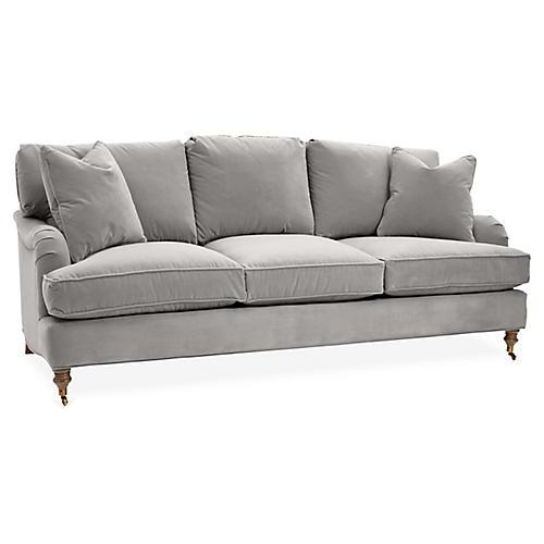 Brooke 3-Seat Sofa, Light Gray Crypton