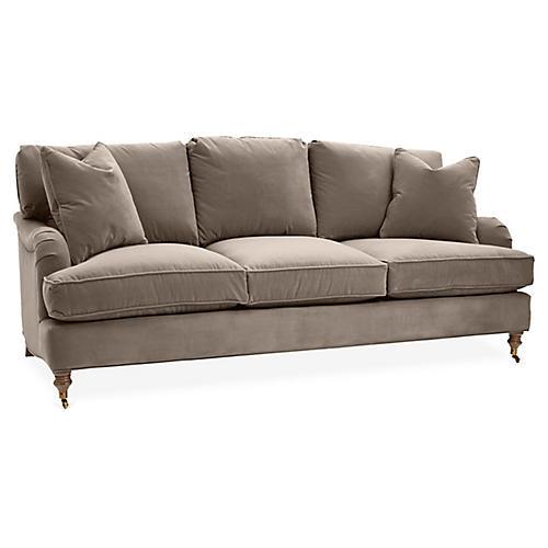 Brooke 3-Seat Sofa, Café