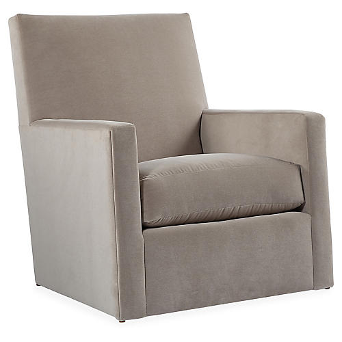 Carlyn Swivel Glider Chair, Taupe