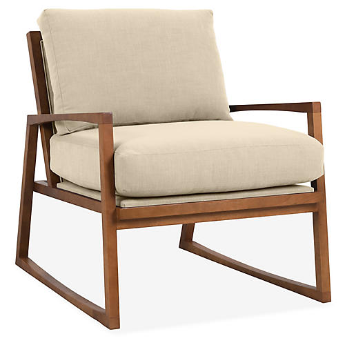 Markus Accent Chair, Flax Crypton