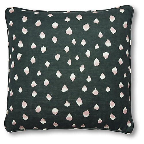 Clara 20x20 Pillow, Forest/White