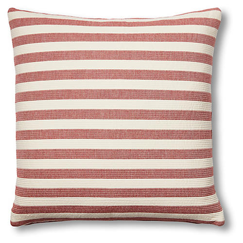 Nellie 20x20 Pillow, Red/Ivory