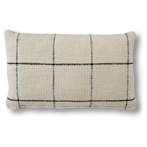 Edith 15x25 Lumbar Pillow, Black