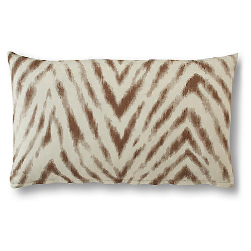 Victoria 15x25 Lumbar Pillow, Almond Linen