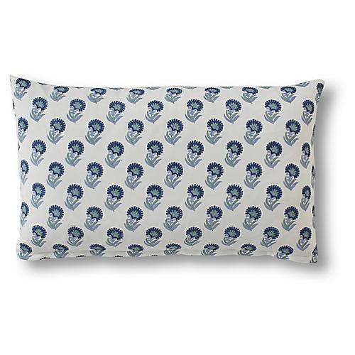Rebecca 15x25 Lumbar Pillow, Indigo