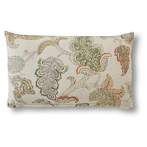 Nora 15x25 Lumbar Pillow, Green Linen