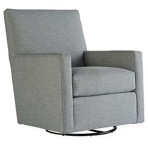 Carlyn Swivel Chair, Smoke Gray