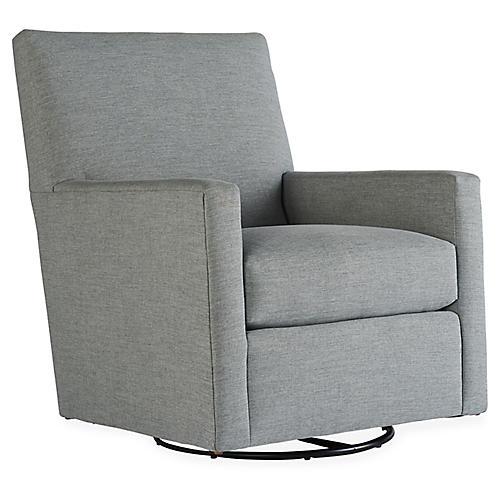 Carlyn Swivel Chair, Smoke Gray