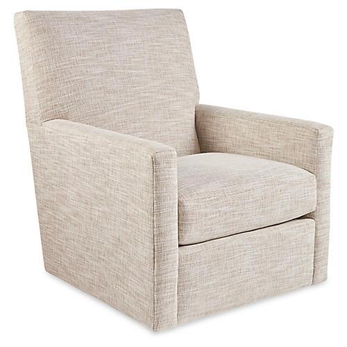 Murphy Swivel Chair, Almond