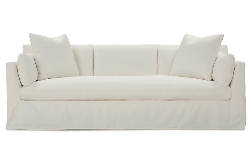Henry Slipcover Sofa, Chalk White