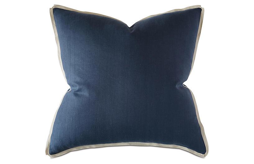 Lodi Linen Sham, Blue