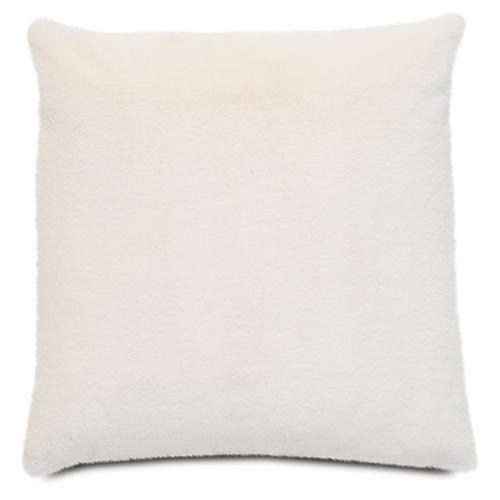 Faux-Fur 22x22 Pillow, Ivory