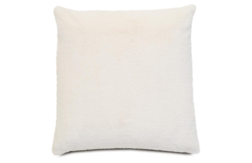Faux Fur 22x22 Pillow, Ivory