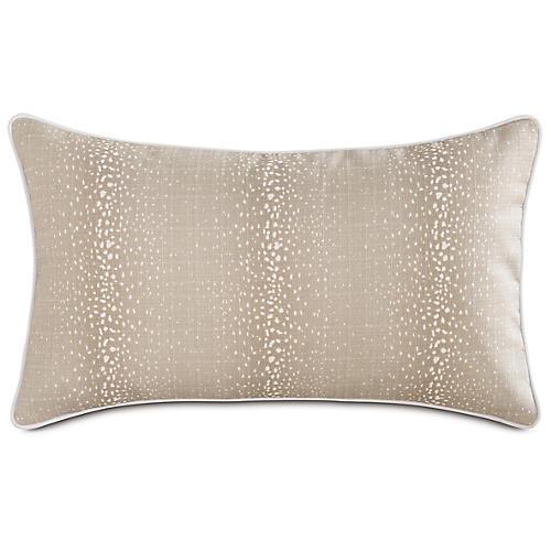 Evie Fawn 13x22 Outdoor Lumbar Pillow, Brown