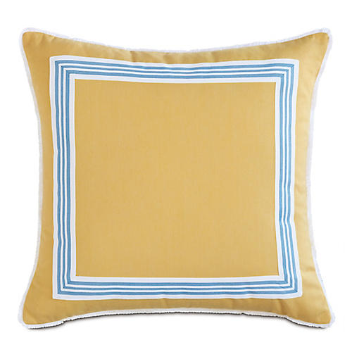 Willa 20x20 Outdoor Pillow, Yellow/Blue