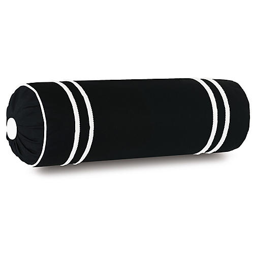 Bree 9x24 Outdoor Bolster, Black