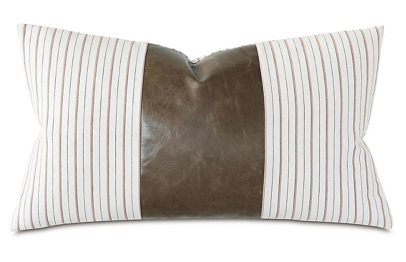 Emily 15x26 Lumbar Pillow, Taupe