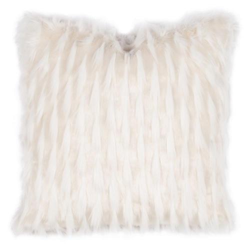Jadis 22x22 Faux-Fur Pillow, White