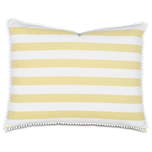 Pineapple Bobble Tailored Sham, Yellow/White