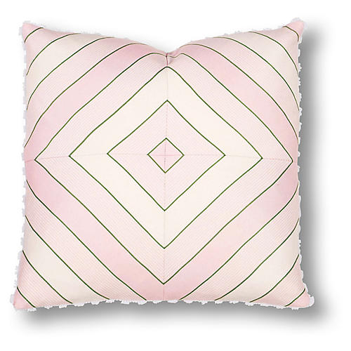 Ada 20x20 Pillow, Pink/Green