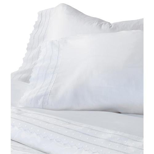 Harper Pillowcase, White