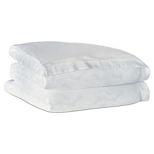 Budding Spring Duvet Cover, White
