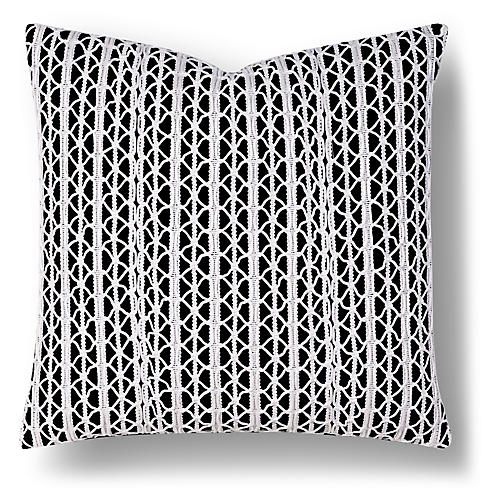 Karis 20x20 Outdoor Pillow, Black/White