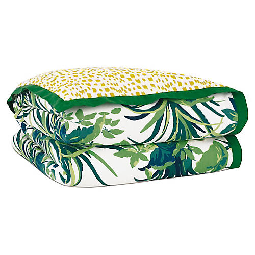 Tropical Dreams Duvet Cover, Green/Yellow