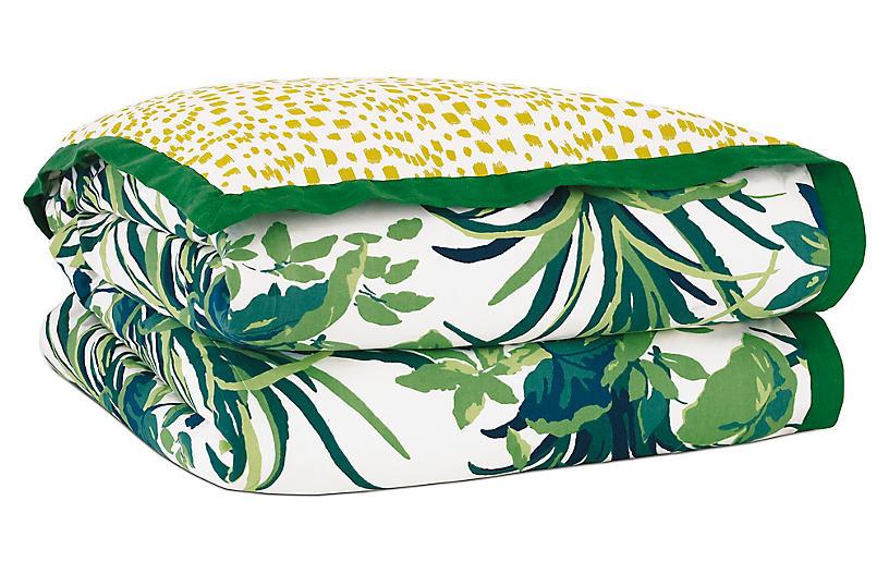 Tropical Dreams Duvet Cover, Green/Yellow