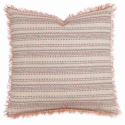 Arlo 24x24 Pillow, Rust