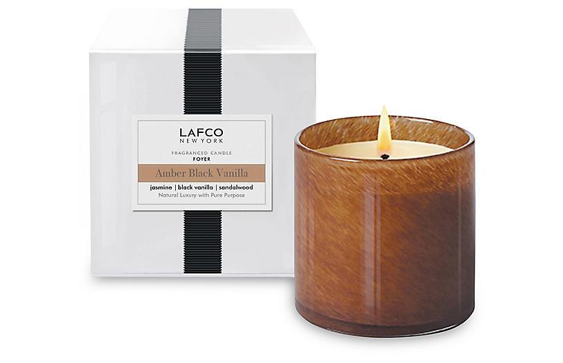Classic 6.5 oz Candle, Amber Black Vanilla
