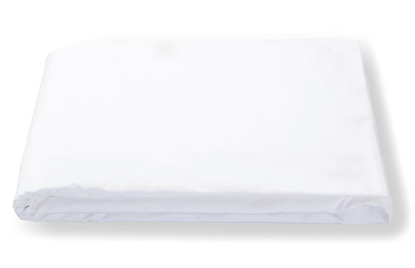 Luca Hemstitch Fitted Sheet, White
