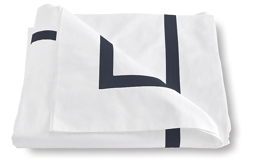 Lowell Duvet Cover, Navy