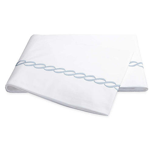 Classic Chain Flat Sheet, Light Blue