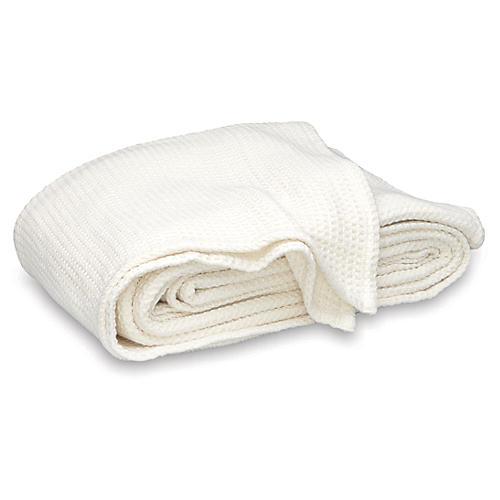Chatham Blanket, Ivory